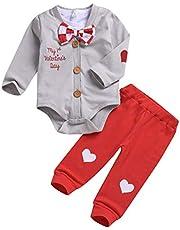 Tianhaik 3 Stuks Baby Boy Gentleman Outfit Set Korte Mouw Romper Uitloper Jas Broek Voor Casual Feest