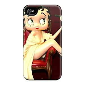 JasonPelletier Iphone 4/4s Shockproof Phone Cover Customized Realistic Betty Boop Christmas Holidays Series [dUJ1835afBo] hjbrhga1544
