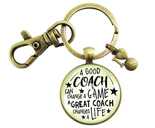 - Volleyball Coaching Keychain A Great Coach Changes A Life Quote Thank You Key Ring Appreciation Gifts For Men Women