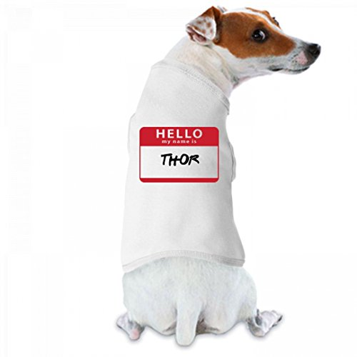 Hello My Name Is Thor: Doggie Skins Dog Tank (Thor Outfits)