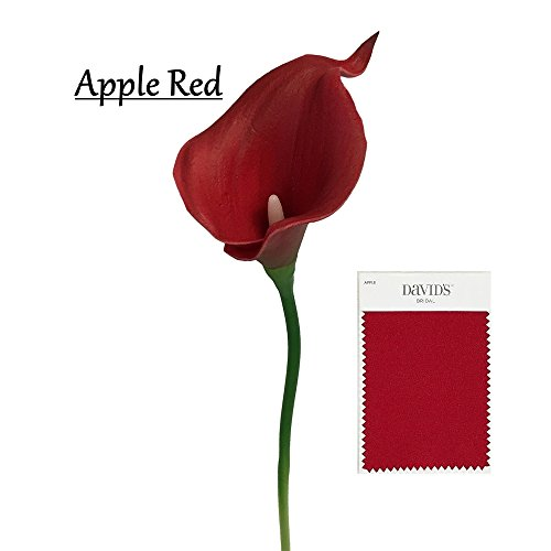 10pc set Real Touch calla lily-Apple Red(Davids Bridal Color)