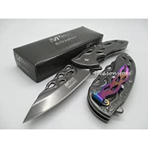 2 X Mtech Assisted Opening Rescue Tactical Pocket Folding Collection Knife Outdoor
