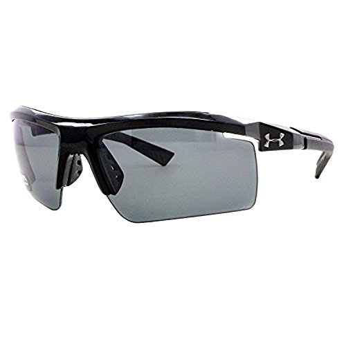 UA Core 2.0 Shiny Black / Black Rubber w/ Gray Storm Polar (ANSI) & Cleaning - Under Armour Core 2.0 Sunglasses
