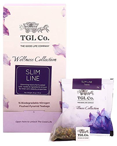 TGL Slim Line Tisane Tea Bags, 16 Tea Bags | Slimming Tea for Weight Loss with Green tea, Garcinia Cambogia, Cinnamon…