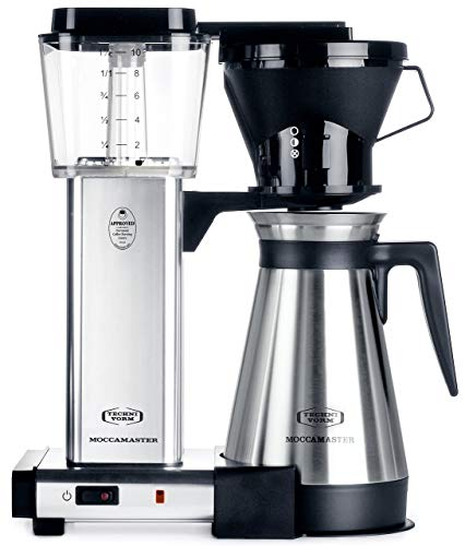 Technivorm Moccamaster 79112 KBT Coffee Maker, 40 oz, Polished Silver (Renewed)