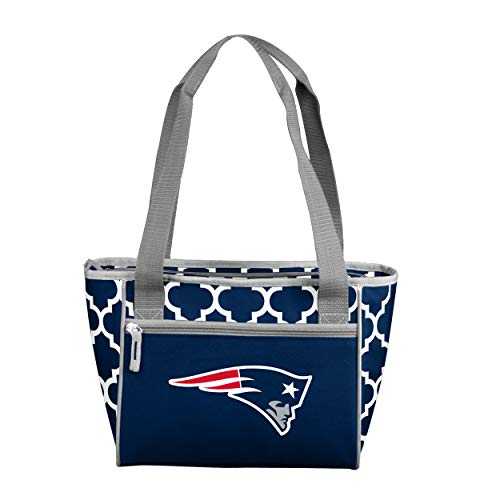 Logo Brands NFL New England Patriots 16 Cooler Can Tote, Navy, One Size