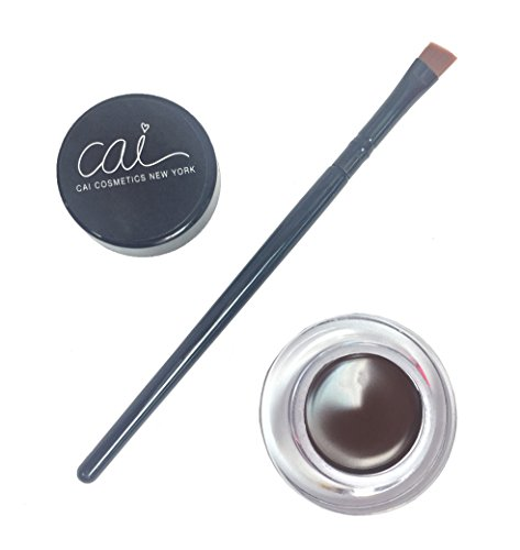 Cai Cosmetics 2 Piece Waterproof Gel Eyeliner & Brush Set (Brown)