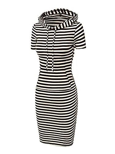 Jollychic - Vestido - trapecio - para mujer multicolor negro, blanco Medium