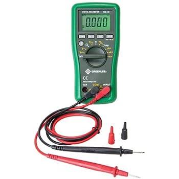 greenlee dm 40 manual ranging 600 volt multimeter checks ac dc rh amazon com Owner's Manual Operators Manual