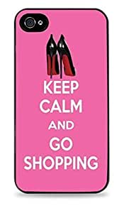 Keep Calm And Go Shopping Black Hardshell Case for iPhone 6 (4.7 inch) i6