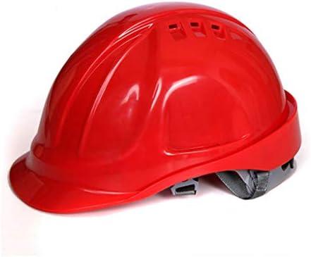 Rui Peng 安全性 ハード帽子 - 保護帽の中の工事現場ABS換気工事ヘルメット安全労働保険ハードヘルメット - 頭の保護具 - 「保冷」換気ヘルメット、完全に調整可能、 (Color : Red)