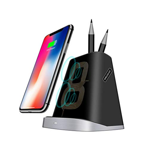 -  Orcbee  _Qi Wireless Charging Charger Pad Dock with Pen Holder for Samsung for iPhone Black