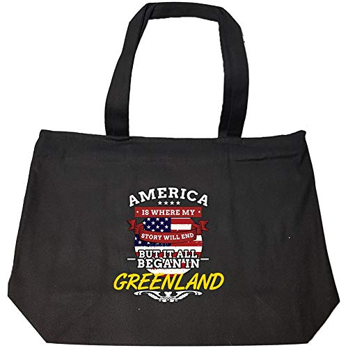 Greenlandic Pride America Is Where My Story Will End Greenland Proud - Fashion Zip Tote Bag
