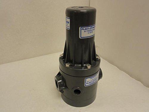 Plast-O-Matic PRHM Series PVC Pressure Regulator, For Corrosive and Ultra-Pure Liquids, 5 - 125 psi Regulating range, 3/4'' x 3/4'' NPT Female by Plast-O-Matic