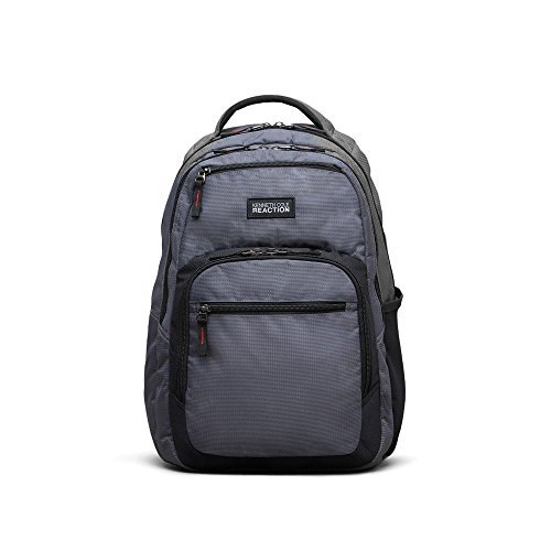 Reaction Kenneth Cole Double Gusset Laptop Backpack In Gray - Men's -...
