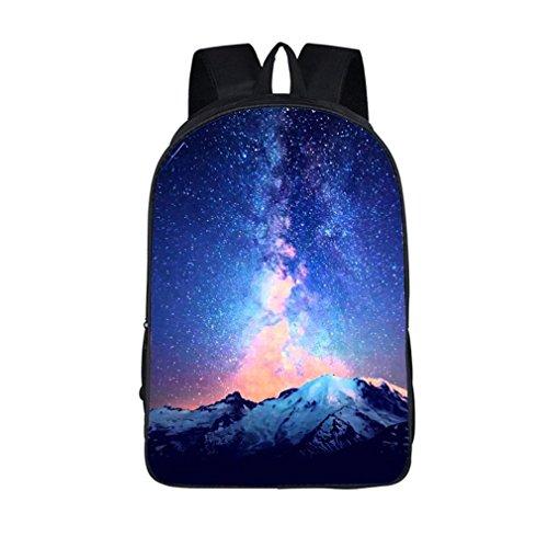 Weajab Sky Students School Backpack School Bags Starry Night/Space Star Bag 16XK20