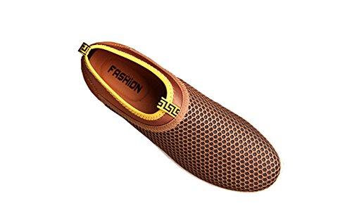 VECJUNIA Herren Slip-on-Sneaker Atmungsaktives Mesh Oberfläche Schuhe Wassersportschuhe Aquaschuhe Surfschuhe Gold