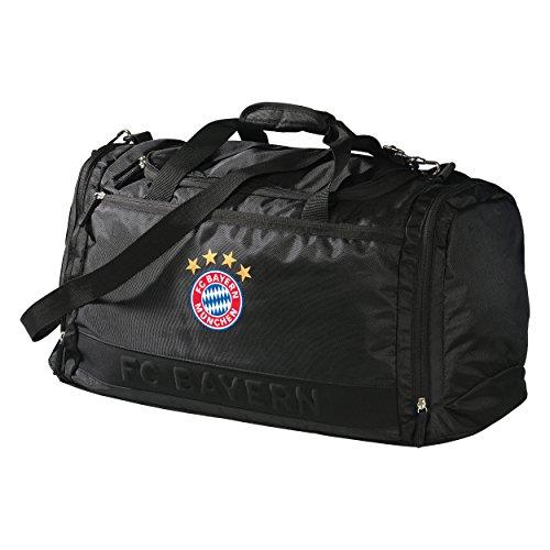 Sporttasche schwarz FC Bayern München + gratis Aufkleber München forever, Tasche, Reisetasche, Sportbeutel, Beutel, Tragetasche