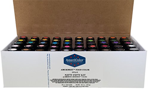 Food Coloring AmeriColor - Nifty Fifty AmeriMist Kit, 50 .65 Ounce Bottles by AmeriColor