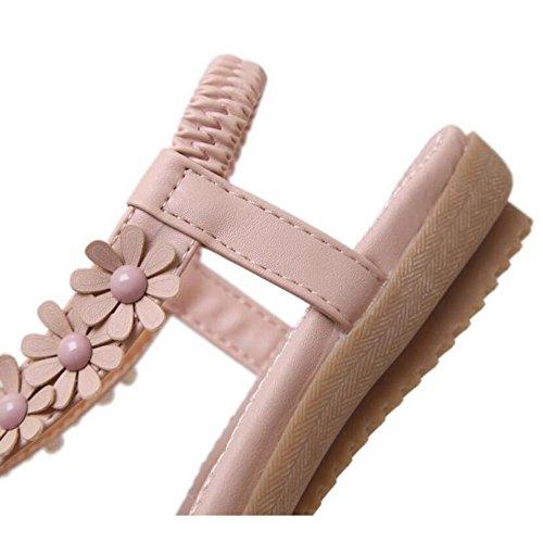 Sommer Eu36 Stor Flat Sko Rosa Søte 5 Koreansk Høyde Størrelse Format Sandaler Tilfeldige valgfritt Cm 5 2 Xiaolin Hæl farge Kvinner Rosa Cn35 Uk3 5Sx8qnCwHt