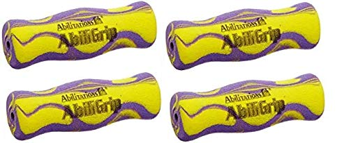 Abilitations AbiliGrip Hand Grips, 4 x 1-1/4 Inches, Set of 12 (4-(Pack))
