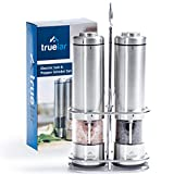 Electric Salt & Pepper Grinder Set by Truelar | Stainless Steel, Battery Operated