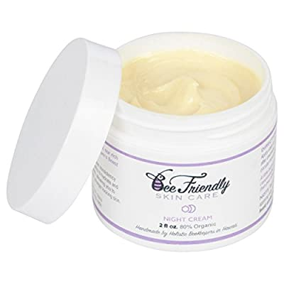 Best Night Cream - 100% All Natural & 80% Organic Night Cream By BeeFriendly, Anti Wrinkle, Anti Aging, Deep Hydrating & Moisturizing Night Time Eye, Face, Neck & Decollete Cream for Men and Women
