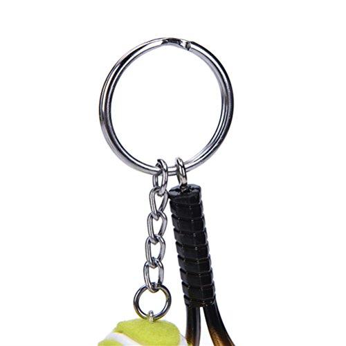 Métal Porte En 1 clés Et Silver Balle Tennis Raquette De Avec zfqZwdfR