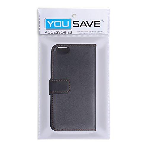 iPhone 5C Tasche Schwarz PU Leder Brieftasche Hülle Mit Griffel Stift