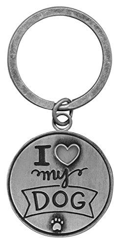 AngelStar I I Love My Dog Pawsitive Keychain, 49822 (I Love My Dog Keychain)