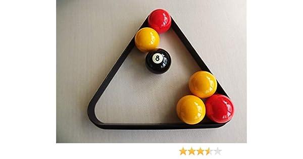 Triángulo para billar o snooker, para 15 bolas de 5 cm: Amazon.es: Deportes y aire libre