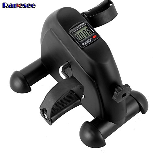 Rapesee Best Elderly Stationary Bike Under Desk Mini Pedal Exerciser Bike for Seniors Fitness Health Cycling Machine Leg Arm Exercise Equipment with LCD Display for Home Office by Rapesee