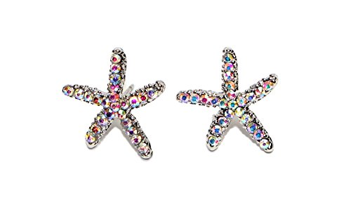 Hypoallergenic Surgical Steel Rhodium Plated Starfish for sale  Delivered anywhere in USA