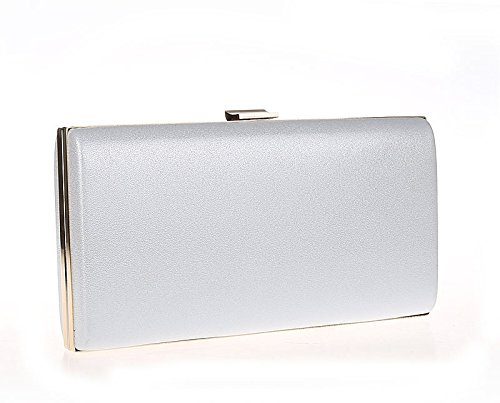 With Black Clutch Women's Chain Bag Evening Flada Crystal White Pearl Floral 0fxHO07z