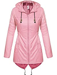 Amazon.com: Pinks - Trench, Rain & Anoraks / Coats, Jackets ...