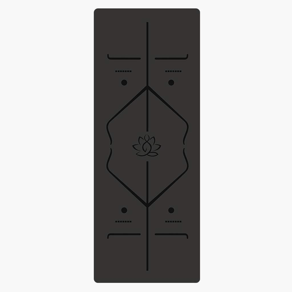 ASJHK 男性と女性の初心者のためのヨガマット厚さ5ミリメートル天然ゴム製ヨガマットフィットネスマットロング滑り止めヨガ地元のボディライン ヨガマット (色 : Gray, サイズ さいず : 5mm) B07P7122KS 5mm 黒 黒 5mm
