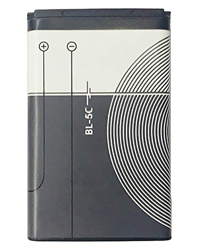 Battery BL-5C 1020 MAH for Retro Handheld Game Console Nokia 3120,3600,3620,3650,3660,6030,6108,6230,6270,6600,6630,6670,6680,6681,6682, 6820,6822,7600,7610,E50,E60,N70,N71,N72,N91,N-Gage ETC. (Best Nokia N Gage Games)
