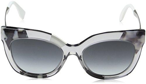 Mujer 0179 Ruth 53 Gafas Gris FF Dark Grey Sf S de 9O Greycry Sol para 27Q Fendi qz5f7