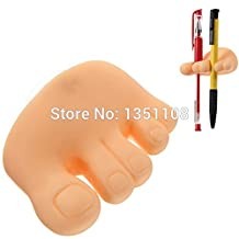 New Funny Cute Foot Toe Shaped Pen Pencil Toothbrush Holder Mount Stand