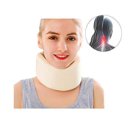 (Cervical Collar Neck Traction Brace Support Sponge Wrap Travel Car Poor Posture for Sleeping Orthopedic Soft Cushion Pain Relieve Stiff Travel Orthopedic Home Extender Machine Core Cushion M)