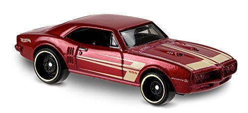 Hot Wheels 2017 Muscle Mania '67 Pontiac Firebird 400 284/365, Maroon 67 Pontiac Firebird