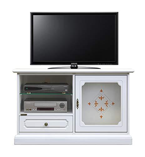 Porta Tv Lcd Vetro.Mobile Porta Tv In Legno Con Vetro Decorato Amazon It Handmade