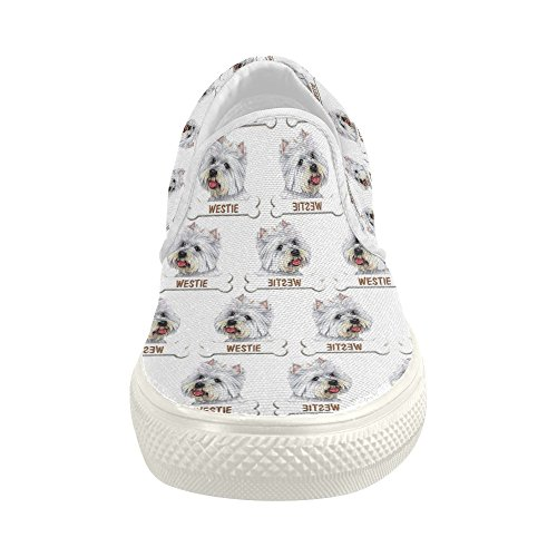 cheap Shoes Cute Westie Dog Slip-on Canvas Loafer For Women