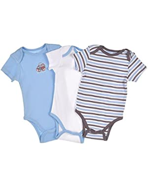 Train 3-Pack Bodysuit Onesie