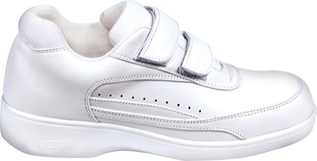 Aetrex Men's Ambulator 2 Strap Active Walker Orthotic Shoes,White Leather,16 XW US