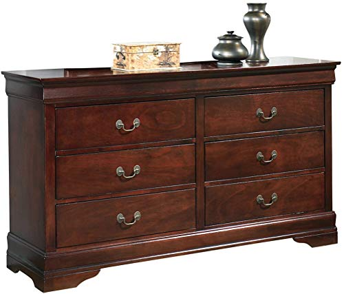 Ashley Furniture Signature Design - Alisdair Dresser - 6 Drawers - Traditional Louis Philippe Style - Dark Brown