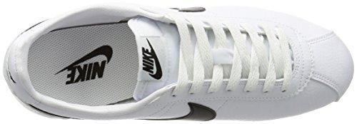 Nike Classic Cortez Leather, Zapatillas de Running para Hombre Blanco / Negro (White / Black)