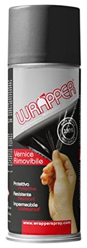 Quattroerre 16443 Wrapper Spray Vernici Rimovibili Tinta Camouflage, Grigio Scuro Quattroerre Italia