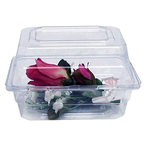 Boutonniere Flower Box Clear Prom Wedding Corsage Craft Container w/ Crafting eBook (8