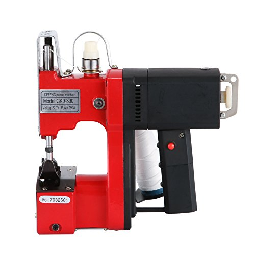 Amazon.com: Happybuy Bag Closing Machine 110V Portable Sewing Machine for Bag Closer Stitcher Sealing Machine (Red Bag Closing Machine)
